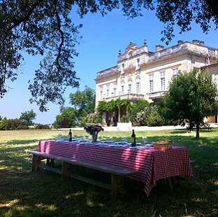 Garden Party at the chateau