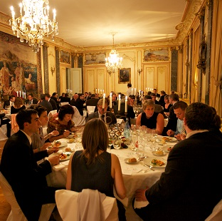 Evening out in a château